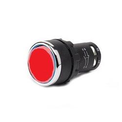 MB100DK ⟡ Кнопка нажимная моноблочная красная (1НО) Ø 22 мм