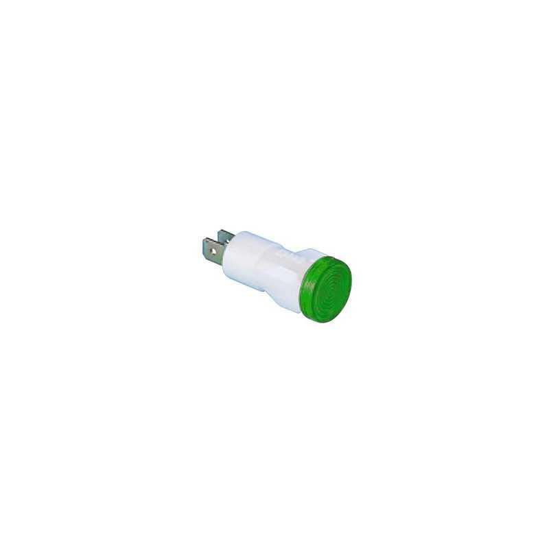 S145Y ⟡ Арматура сигнальная Ø 14мм зеленая с лампой 220В