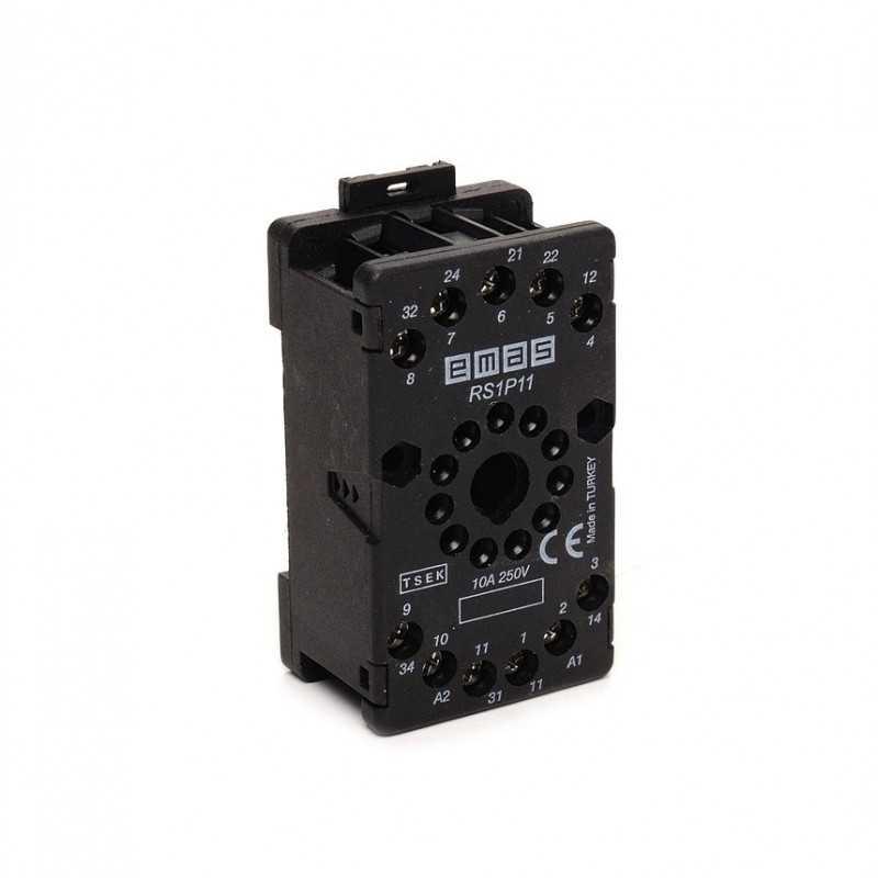 RS1P11H1 ⟡ Релейная колодка черная