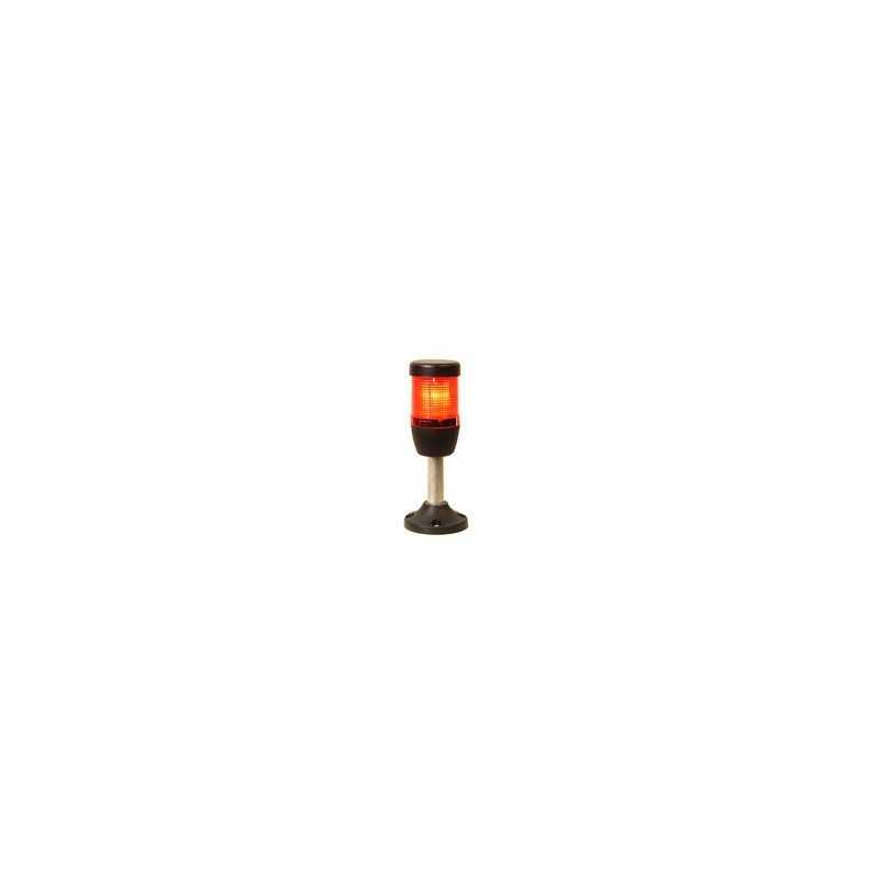 IK51F220XM03 ⟡ Сигнальная колонна Ø 50 мм. Красная, 220 V AC, стробоскоп Flash