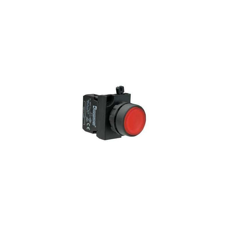 CP102DК ⟡ Кнопка нажимная круглая красная (1НО+1НЗ)