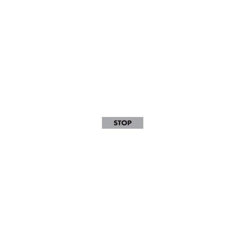BET08-STOP ⟡ Шильдик, Табличка «STOP» 8 мм
