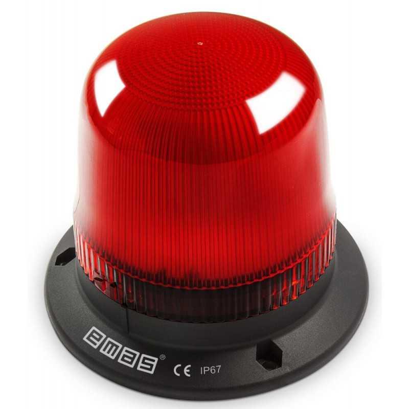 IT120R220 ⟡ Проблесковый маячок Ø 120 мм, красный, 110-220V AC/DC
