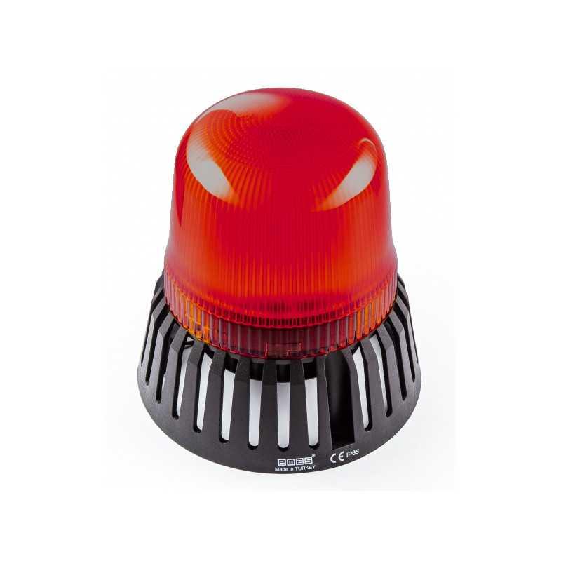 IT120R220Z ⟡ Проблесковый маячок Ø 120 мм, с зуммером, красный, 110-220V AC