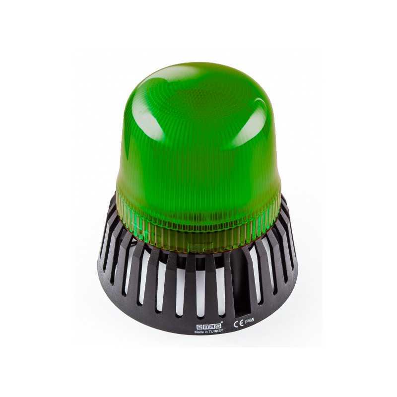 IT120G220Z ⟡ Проблесковый маячок Ø 120 мм, с зуммером, зеленый, 110-220V AC