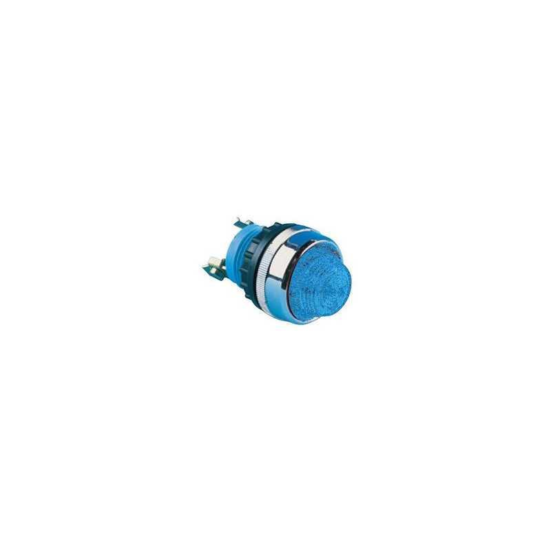 S220M ⟡ Арматура сигнальная синяя Ø 22мм с конической линзой