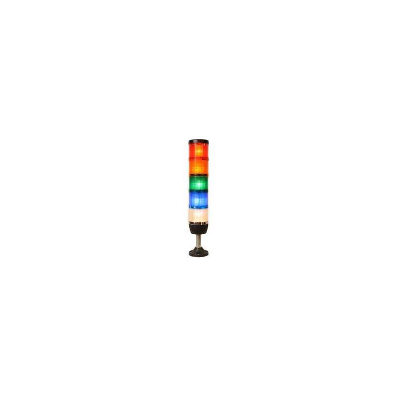 IK75F220XM01 ⟡ Сигнальная колонна Ø 70 мм. Красная, желтая, зеленая, белая, синяя, 220 вольт, стробоскоп FLESH