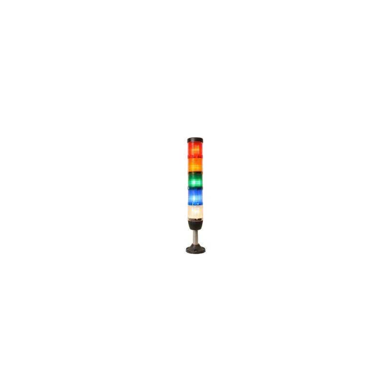 IK55F220ZM03 ⟡ Сигнальная колонна Ø 50 мм. Красный, жёлтый, зелёный, синий, белый, 220 V AC, стробоскоп Flash, с зуммером