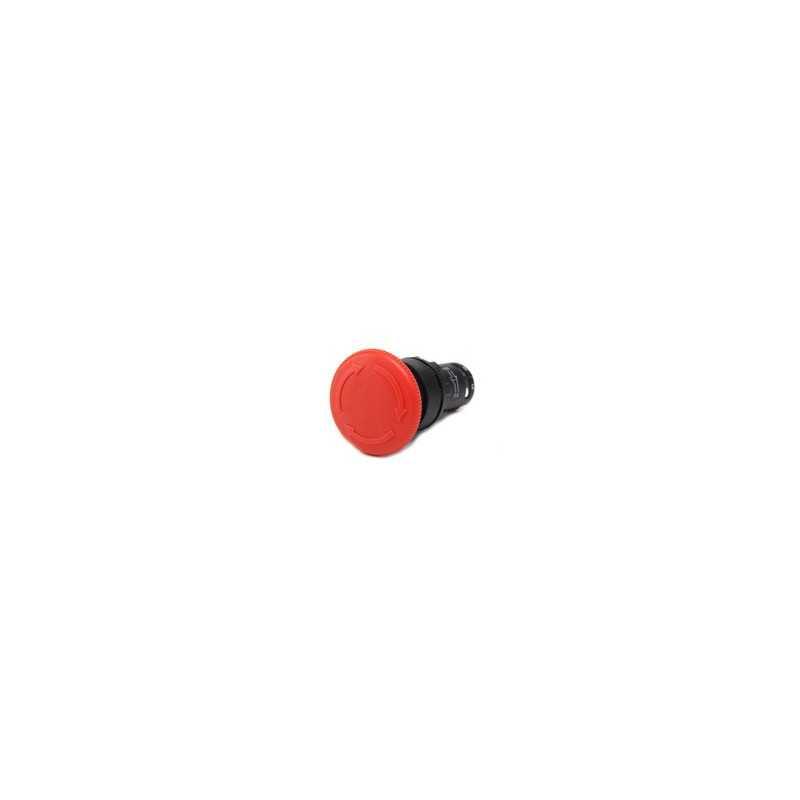 MB200E ⟡ Кнопка нажимная «Грибок» моноблочная Ø 40 мм, красная