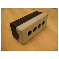 PY4BOS ⟡ Кнопочный пост пластиковый пуcтой 4-х кнопочный IP65