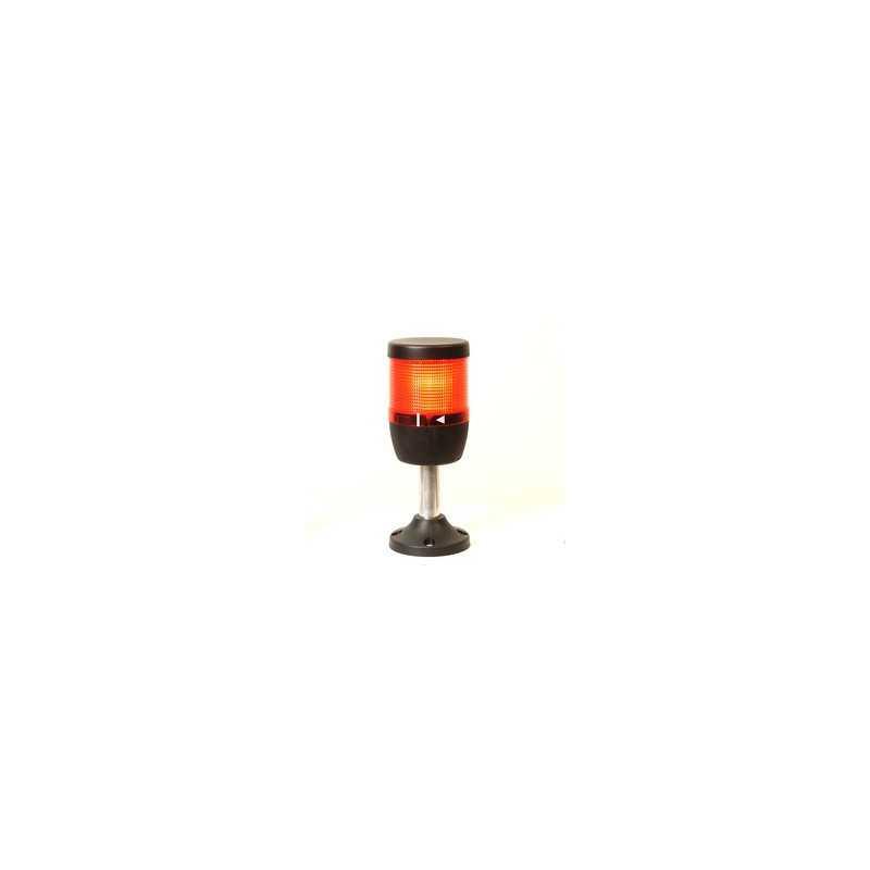 IK71F220XM01 ⟡ Сигнальная колонна Ø 70 мм. Красная 220 вольт, стробоскоп FLESH
