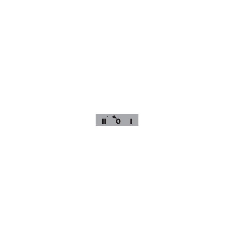 BЕТ08-201ОК ⟡ Табличка «2-0-1» со стрелкой возврата из «2 в 0» - 8 мм