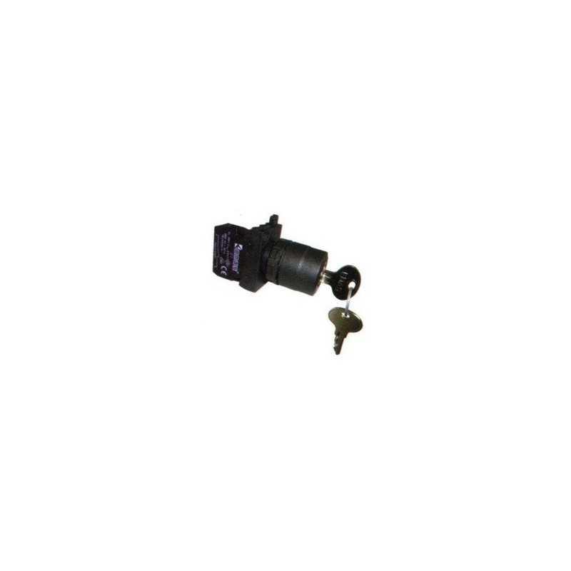 CP100AC20 ⟡ Кнопка с ключом 0-1, ключ вынимается во всех положениях (1НО)