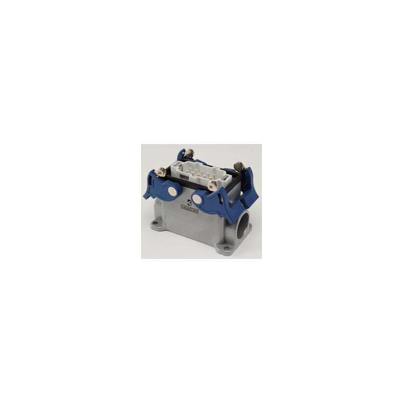 EBM10FD24 ⟡ Вилка, 4-фиксатора, 2-боковых ввода, для панели, 10 полюсов, 16А