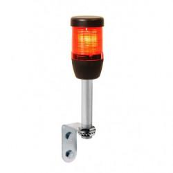 IK51L024ZD01 ⟡ Сигнальная колонна Ø 50 мм, красная, 24 V DC, светодиод LED алюминиевое настенное соединение 100 мм, с зуммером