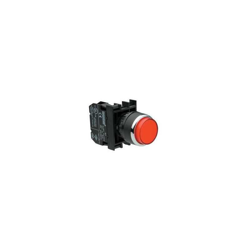 B102HК ⟡ Кнопка выступающая красная (1НО+1НЗ)