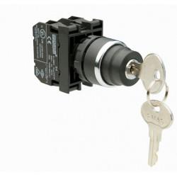 B100AA21 ⟡ Кнопка с ключом, возвратная 0-I, ключ вынимается в положении 0