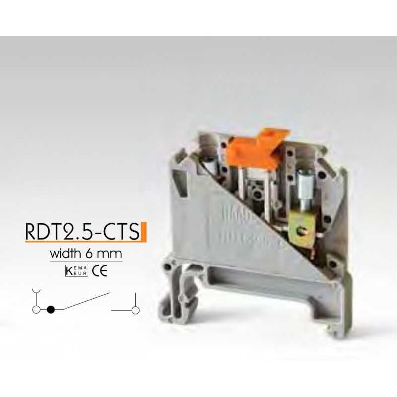Клеммные зажимы с размыкателем RDT2.5-CTS