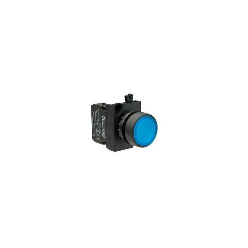 CP102DМ ⟡ Кнопка нажимная круглая синяя (1НО+1НЗ)