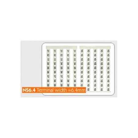 Маркировочные лейблы NS6.4 (Sheet/50 Pcs)
