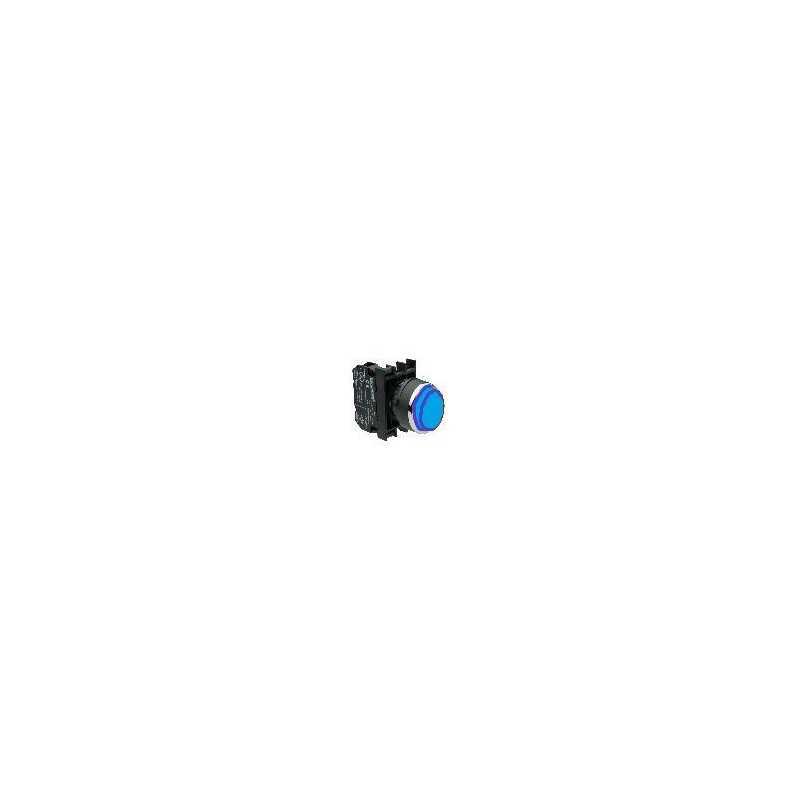 B100HM ⟡ Кнопка выступающая синяя (1НО)