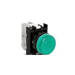 B090XY ⟡ Арматура сигнальная зеленая со светодиодом 12-30 В переменного и постоянного тока