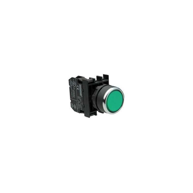 B131DY ⟡ Кнопка с подсветкой неон зеленая