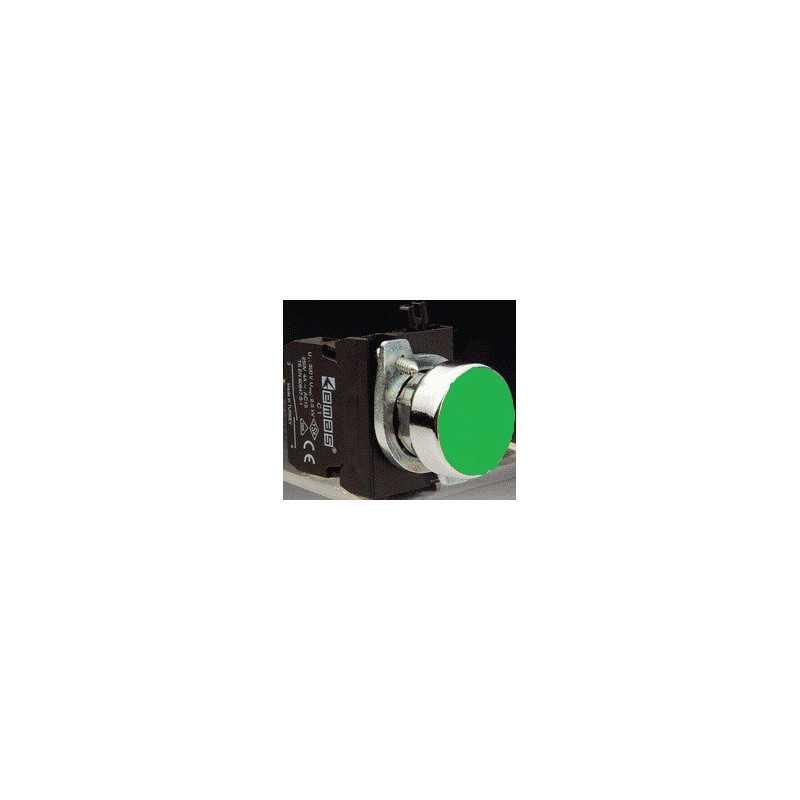 CM200DY ⟡ Кнопка нажимная круглая зеленая (1НЗ)