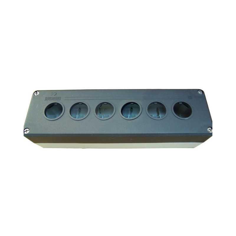 P6BOS ⟡ Кнопочный пост пластиковый пуcтой 6-ти кнопочный IP65