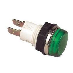 S140Y ⟡ Сигнальная арматура Ø 14мм зеленая с лампой 220В