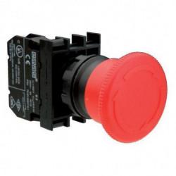 B102E ⟡ Кнопка нажимная «Грибок» аварийная Ø 40 мм, красная