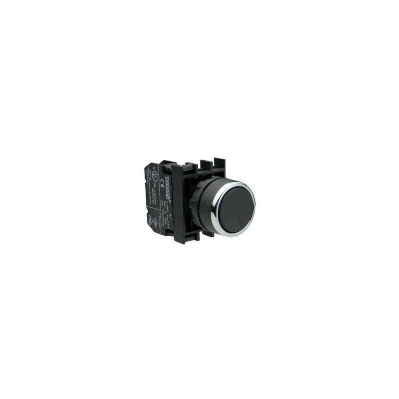 B202DH ⟡ Кнопка нажимная круглая черная B202DH