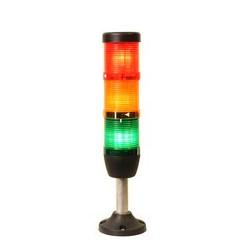 IK53F024XM03 ⟡ Сигнальная колонна Ø 50 мм. Красный, жёлтый, зелёный 24 V DC, стробоскоп Flash
