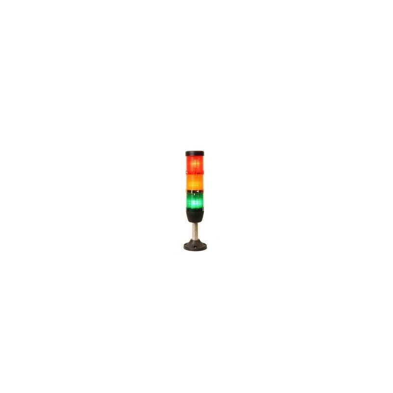 IK53L220XM03 ⟡ Сигнальная колонна Ø 50 мм. Красная, желтая, зеленая 220 вольт, светодиод LED