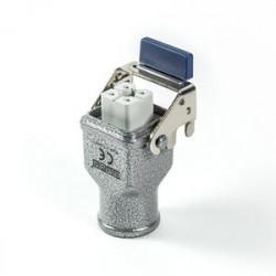 EBM04PU36 ⟡ Разъём розетка на 4 полюса, 10А, верхний ввод, металлическая скоба