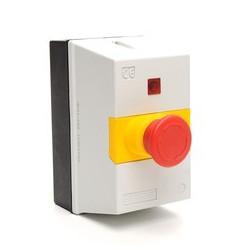 MKS1-KES ⟡ Корпус автомата защиты c аварийной кнопкой «Грибок» Ø 40мм и сигнальной арматурой