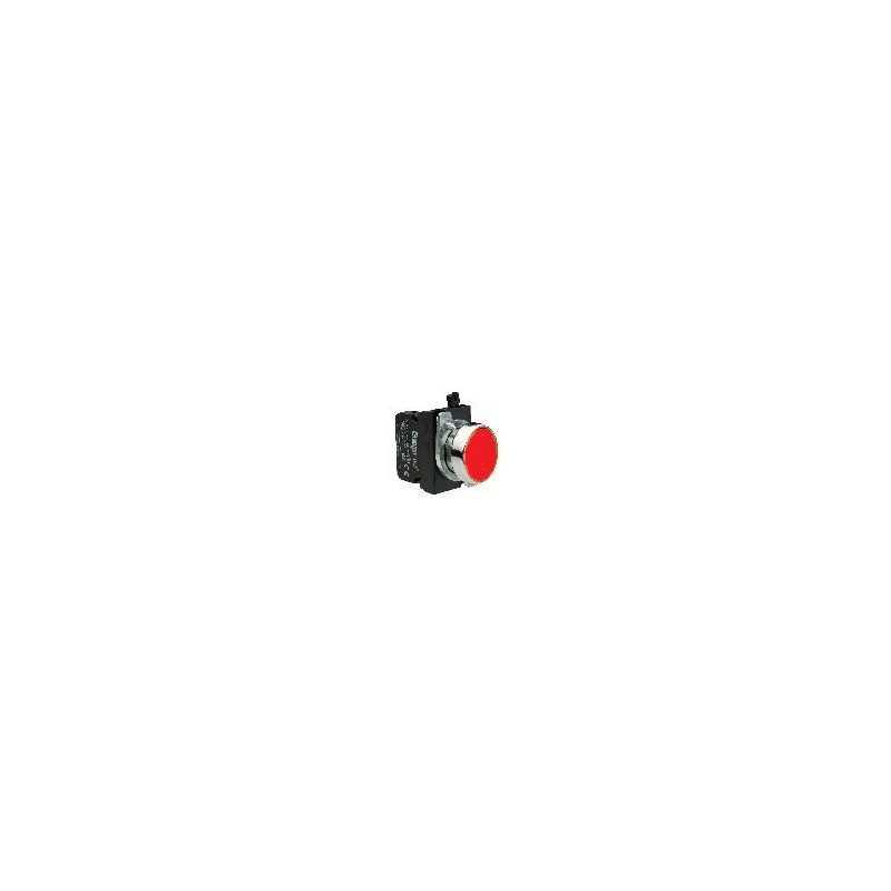 CM102DК ⟡ Кнопка нажимная круглая красная (1НО+1НЗ)