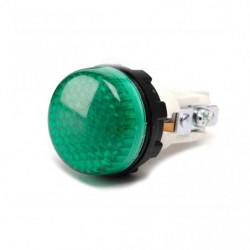 S224Y7 ⟡ Арматура сигнальная зеленая Ø 22мм (под лампу с резьбой Ba9S) 220B