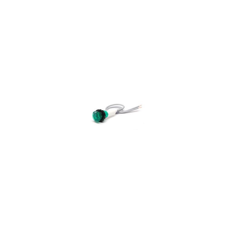 S100LY1 ⟡ Сигнальная арматура 10мм зеленая со светодиодом 12V