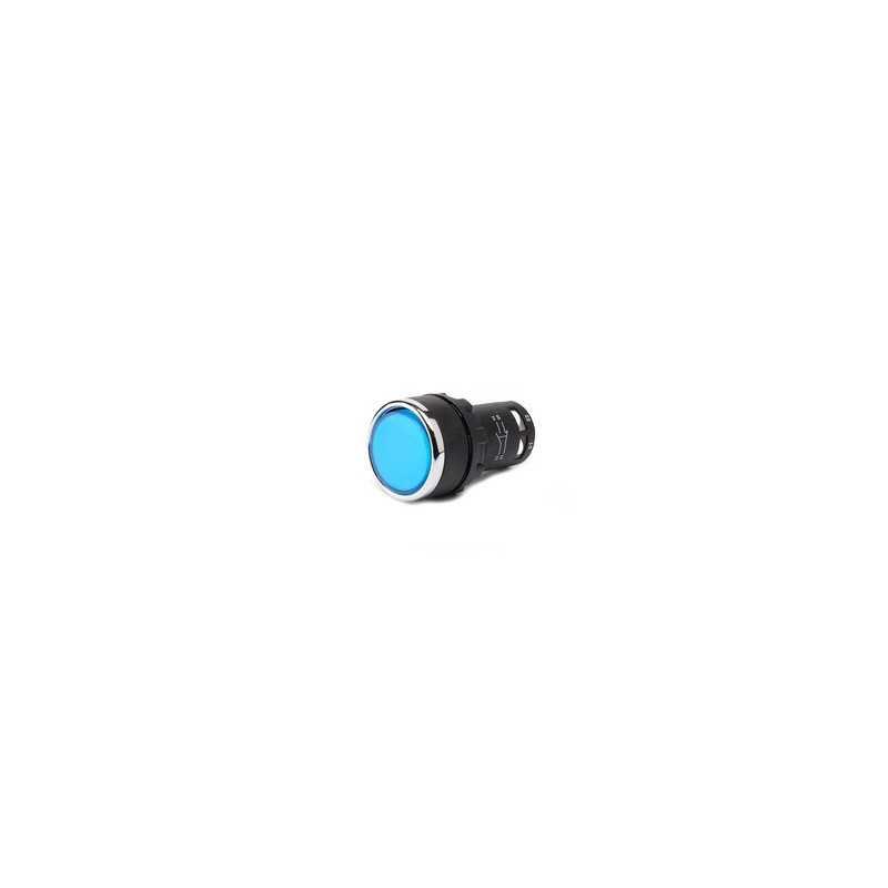 Кнопка нажимная моноблочная синяя...