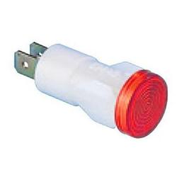 S145K ⟡ Арматура сигнальная Ø 14мм красная с лампой 220В