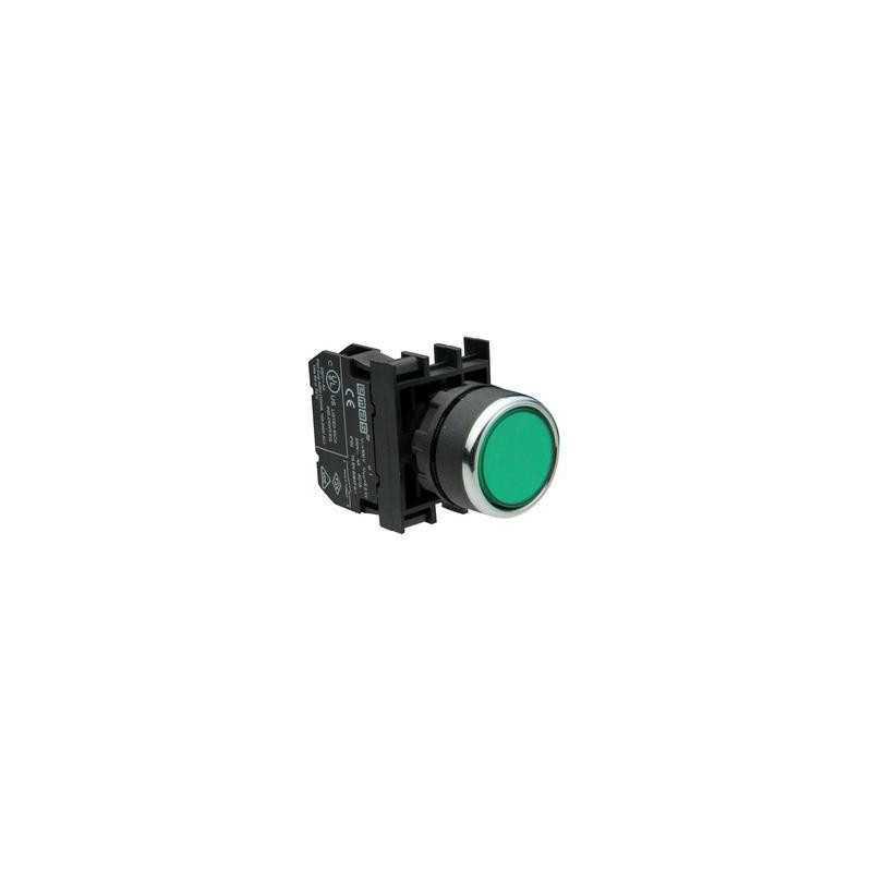 B2Y2DY ⟡ Кнопка с подсветкой-светодиод зеленая