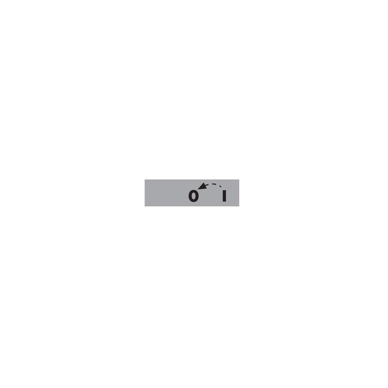 BET08-01OK ⟡ Табличка «0-1» со стрелкой возврата из «1 в 0» 8мм