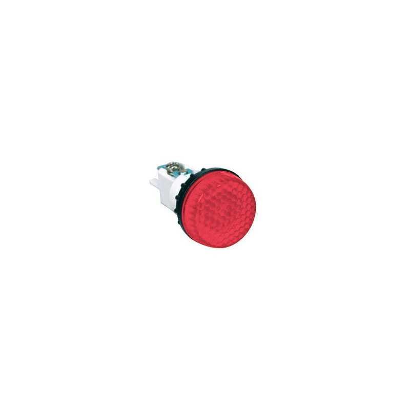 S224K ⟡ Арматура сигнальная красная Ø 22мм (под винт и пайку)