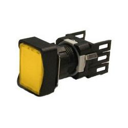 D100DDS ⟡ Кнопка нажимная прямоугольная Ø16мм желтая (1НО)