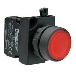 CP200DК ⟡ Кнопка нажимная круглая красная (1НЗ)