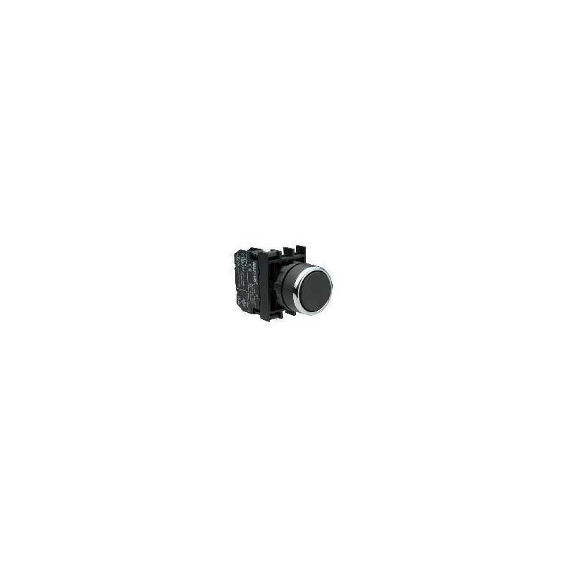 B101FH ⟡ Кнопка с фиксацией черная (2НО)