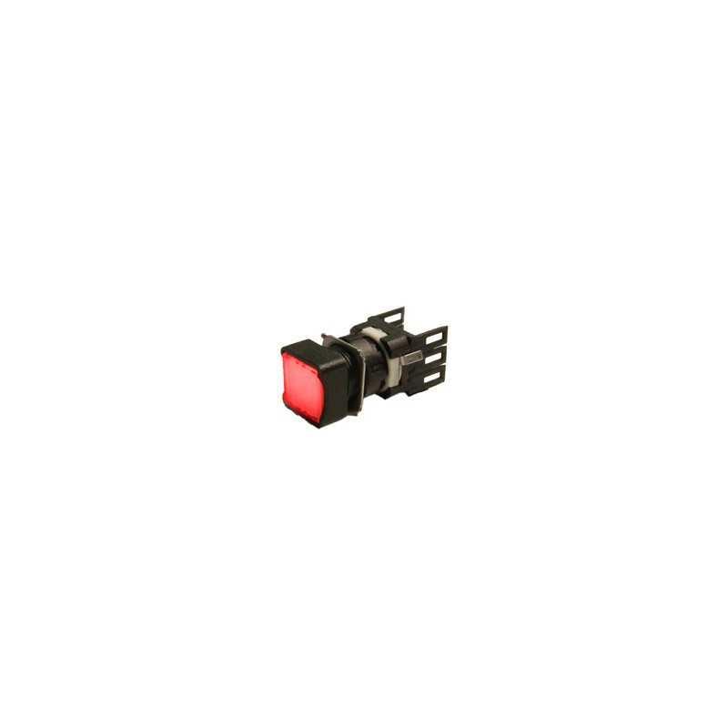 D100KDK ⟡ Кнопка квадратная без фиксации красная