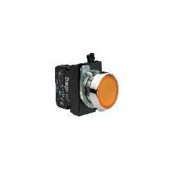 CM182DS ⟡ Кнопка со светодиодной подсветкой желтая CM182DS (1НО+1НЗ)