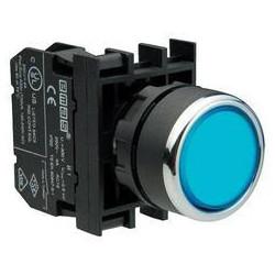 B101DM ⟡ Кнопка нажимная круглая синяя